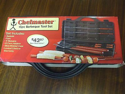 Chefmaster 15 piece BBQ tool set NEW L@@K!