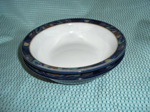 TWO DENBY BAROQUE SOUP BOWLS - BEAUTIFUL PIECES