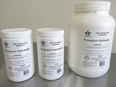 Potassium Hydroxide Flakes 5 Lb  Koh  Caustic Potash  90  Food Grade 7133