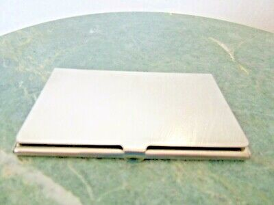 Silver Plated Pocket Business Card Holder Case Recently Polished
