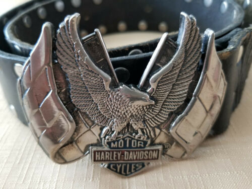 HARLEY DAVIDSON Vintage 1983 BUCKLE with BELT