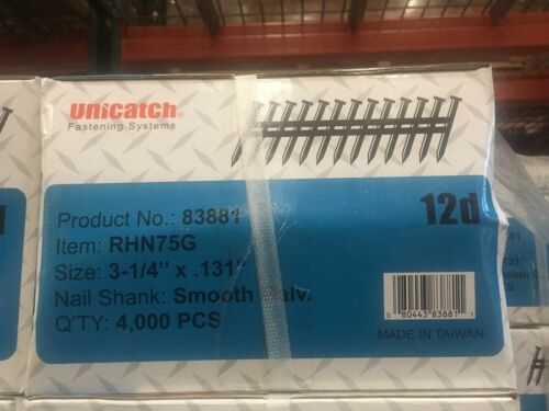 "3-1/4"" x .131 GALV, Smooth 21` Framing Nails 4000/Case Hitachi,DeWalt,Senco"