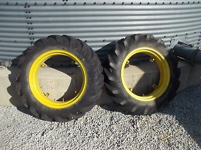 Massey Harris Pony Pacer Tractor 9 X 24 60 Goodyear Tread Tire Tires Rims Rim