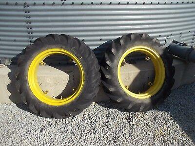 Massey Harris Pony Pacer Tractor 9 X 24 60 Goodyear Tread Tire Tires Rims Rim