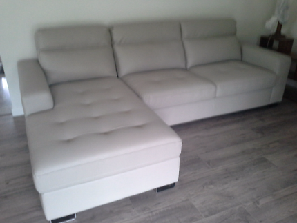 New sofa bed with chaise.