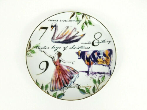 """BETTER HOMES & GARDENS 12 DAYS OF CHRISTMAS LUNCHEON SALAD 8.25"""" PLATE 7 8 9 NEW"""