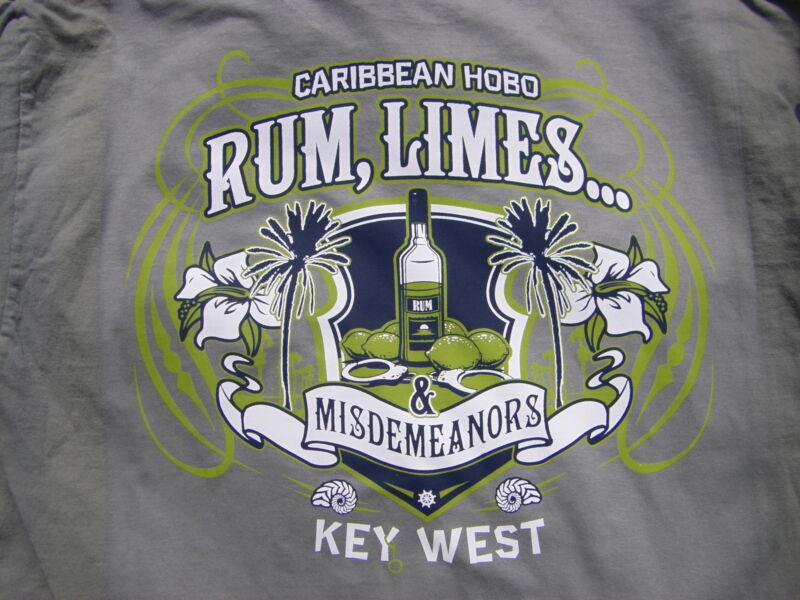 Caribbean Hobo T-shirt Rum Limes Key West ocean booze party shirt Misdermeanor
