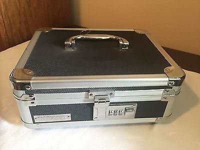 Vaultz Cash Box Lock Box 10x8-34x5 W Combination Lock D493936