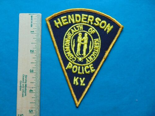 VINTAGE HENDERSON KENTUCKY POLICE PATCH   COMMONWEALTH OF KENTUCKY