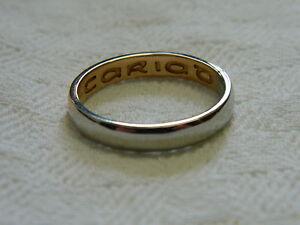 Clogau 18ct Welsh Gold Amp Platinum Unisex Wedding Ring Size Y RRP GBP210000