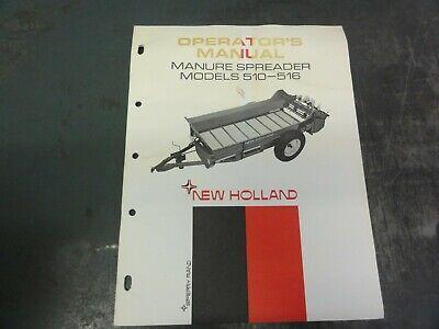 New Holland 510-516 Manure Spreader Operators Manual  42051027