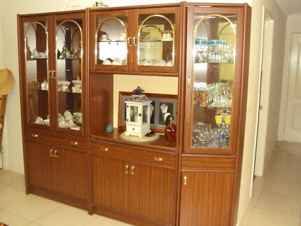 Three Piece Display Cabinet