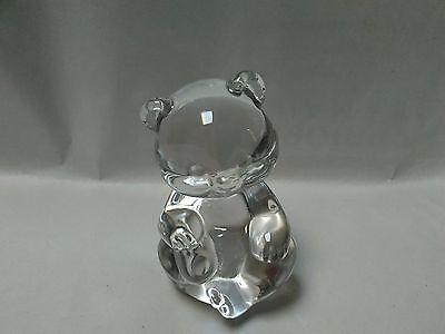 "Fenton Crystal Clear Teddy Bear  ~ 3.5"" ~ Absolutely Beautiful!!"