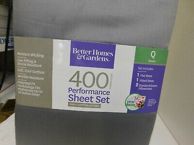BETTER HOMES AND GARDENS 400 THREAD COUNT PERFORMANCE SHEET