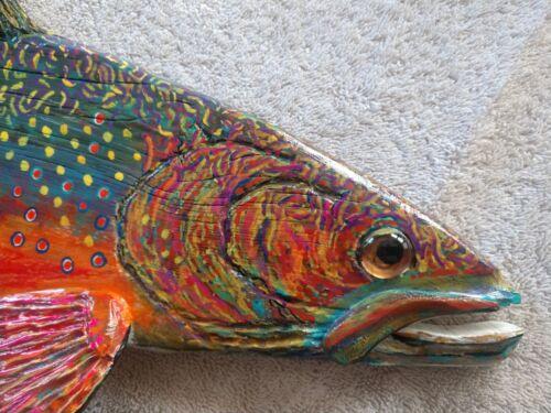 2019,Hand Carved/PaintedBrook Trout, (Picture Sample) Please READ DESCRIPTION!!