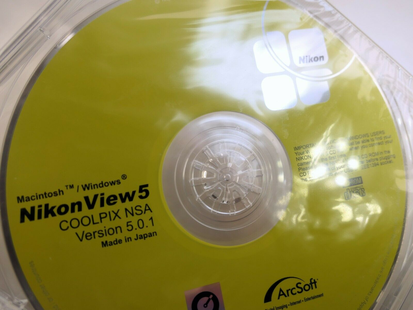 Nikon Coolpix View 5 WINDOWS CD software disc for digital cameras