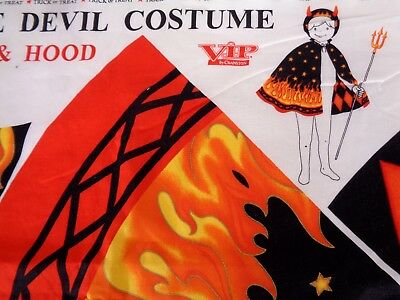 Childs Halloween Little Devil Costume Panel Cut N Sew Hood & Cape VIP Cranston ](Halloween Devil Children)