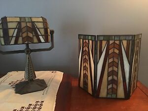 Partylite Bankers Lamp and  3 tealight screen