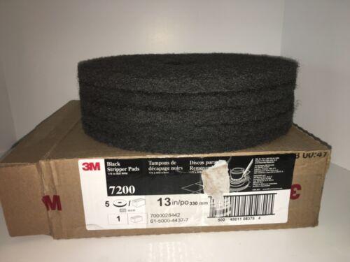 "3M #7200 13"" Black Stripper Pads (175 - 600 rpm)(New - Damaged Box)"