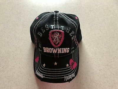 BROWNING THE BEST THERE IS DISTRESSED BASEBALL HAT BRAND