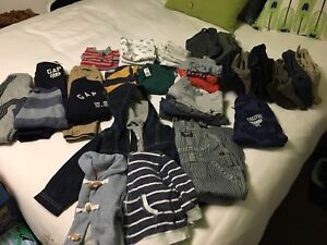 Lot of 18 month boys clothes - 40 plus items