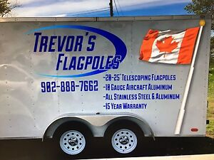 Telescopic Flagpoles and Flags