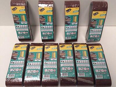40 Wolfcraft Gewebe Korund Schleifbänder 75 x 533 mm für Bandschleifer
