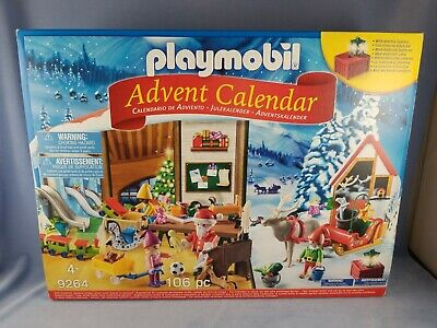 Santa's Workshop #9264 PLAYMOBILE ADVENT Calendar 106 pieces Ages 4+ NIB