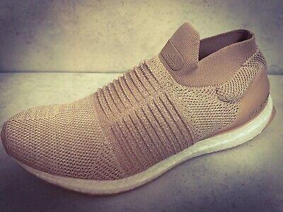 Adidas UltraBoost Laceless Womens Running Shoes Chalk / Pearl CQ0010 UK 9.5 BNIB