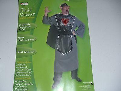 Deluxe Evil King Sorcerer Costume Men's Renaissance Fighter Chest Halloween