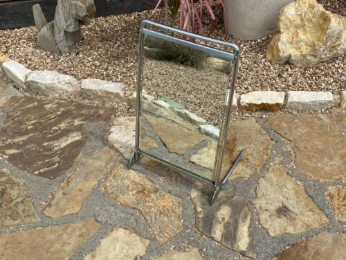 Vintage Mid Century SHOE STORE FLOOR MIRROR on stand / Industrial Steampunk