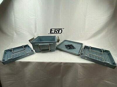 Steris Sterilization Case Container With Tray Basket