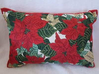 Red Poinsettia Christmas Tapestry Pillow for sale  Redwood City