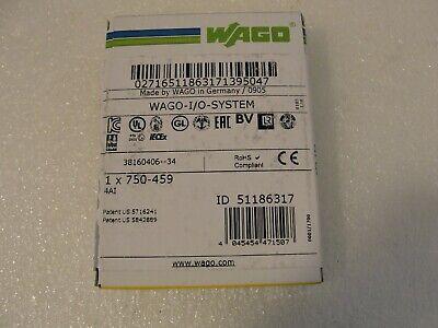 Wago 750-459 4 Channel Analog Input Module New In Box
