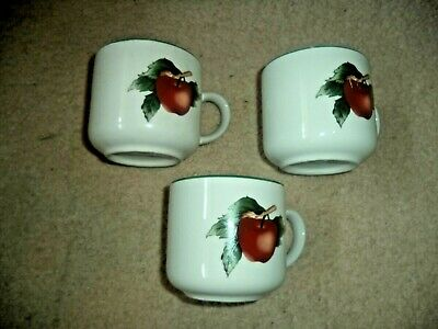 THE CADES COVE COLLECTION Apples Cherries Dinnerware 3 Cups Cades Cove Dinnerware