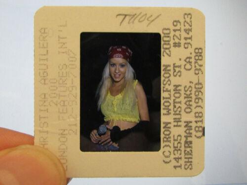 Original Press Promo Slide Negative - Christina Aguilera - 2000 - B