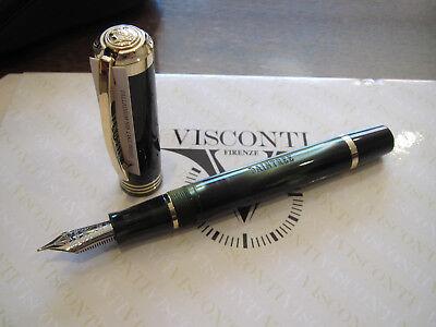 Visconti Daintree deep green LE Fount pen 23kt Med nib, with pen case