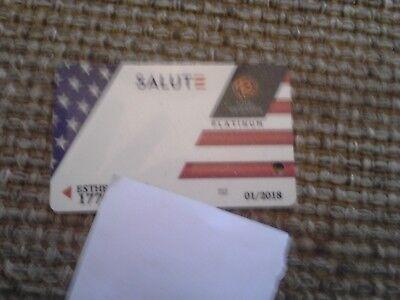 2018 Usa Salute Military Total Rewards Platinum Club Card Casino Slot Card
