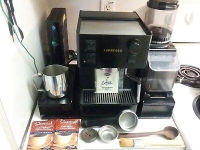 Espresso Machine + Coffee Grinder +Metal Storage Fake + More. All Saeco Italian