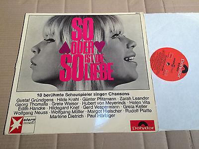 SO ODER SO IST DIE LIEBE - 18 CHANSONS - INGRID STEEGER auf dem Cover - LP