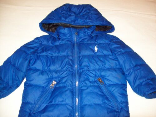 Boys Ralph Lauren Quilted Down Jacket, Royal Blue, Size 24 Month