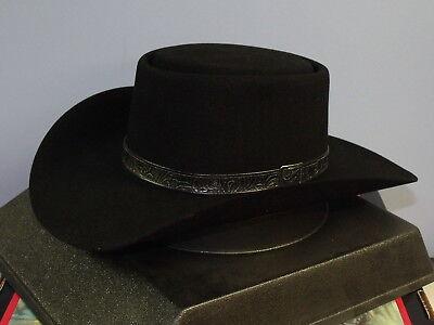 912546ee3eb28 STETSON REVENGER 4X FELT GAMBLER COWBOY WESTERN HAT