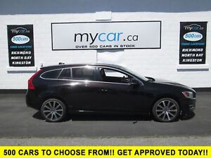 2015 Volvo V60 T6 Premier Plus LEATHER, SUNROOF, HEATED SEATS...