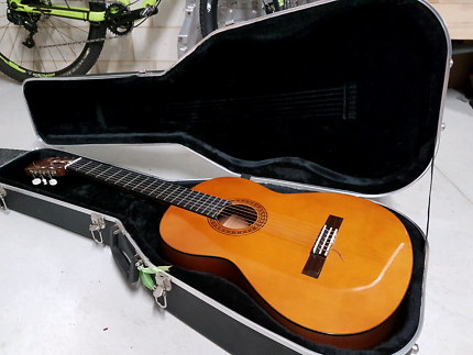 Yamaha Classical Guitar and hard travel case