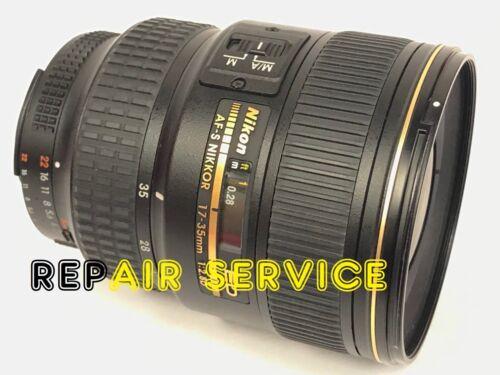 Repair service for Nikon 17-35mm f/2.8 D AFS lens