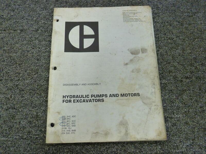 Caterpillar Cat Hydraulic Pump Motor Disassembly Assembly Service Repair Manual