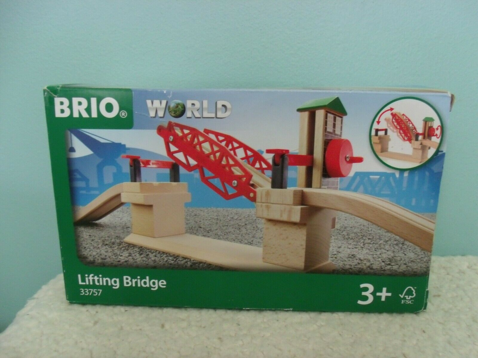 BRIO 33757 Lifting Bridge | Toy Train Accessory with Wooden