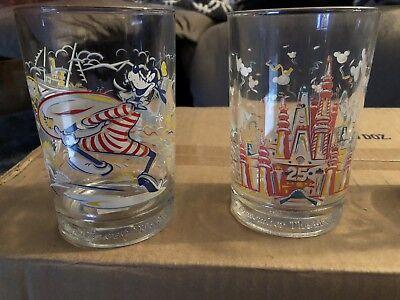 McDonald's Walt Disney World 25th ANNIVERSARY GLASS SET REMEMBER THE MAGIC