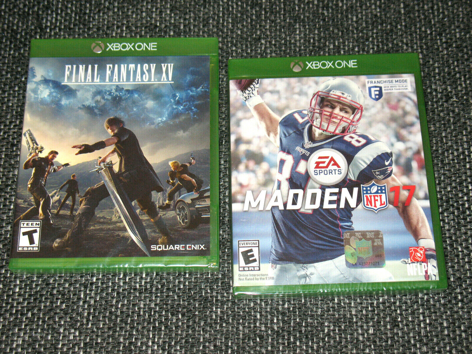 """Madden NFL 17 & Final Fantasy XV"" Xbox One/BL/Both Sealed Ships Boxed!"