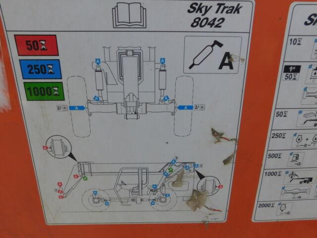 2009 skytrak 8042 telehandler 2009 skytrak 8042